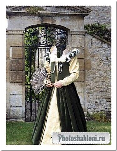 Старинный костюмы 75- шаблон для фотошоп