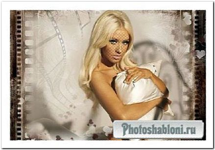 Женский шаблон для фото - Нежность
