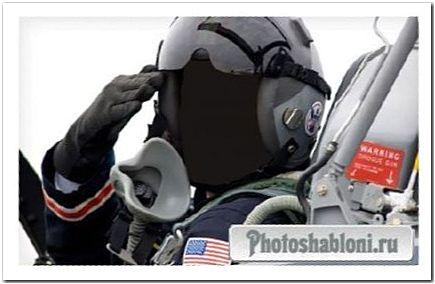 Шаблон для фотомонтажа - Пилот США