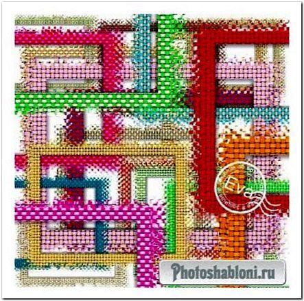Рамки-вырезы Плетенка, цветное плетение