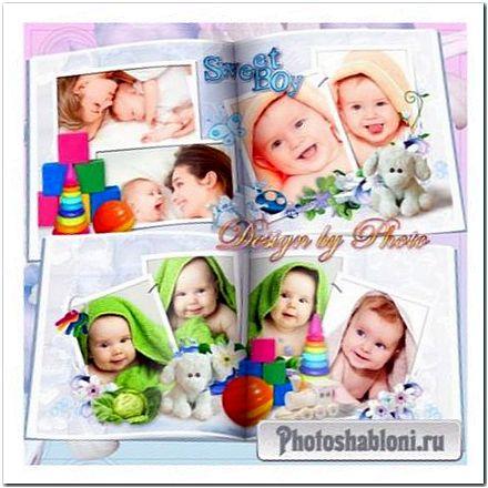 Детская фотокнига для малыша - Мой сладкий ангелочек