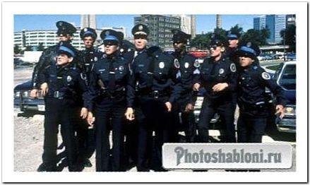 Шаблон psd - Знаменитая полицейская академия