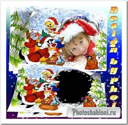 Детская фоторамка - Подготовка к Новому году