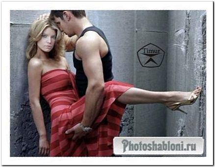 Женский шаблон для фотошопа - Любовь и страсть