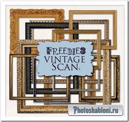Рамки-вырезы для Photoshop - Золотые Классические багеты