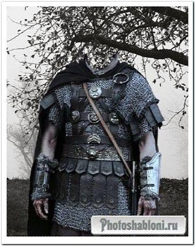Шаблон для фотошопа - мужчина рыцарь