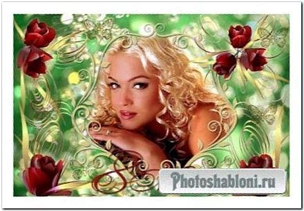 Рамочка для фото - Яркие тюльпаны