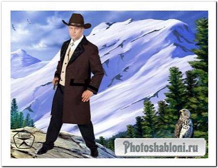 Мужской шаблон для фотошопа - Вольный стрелок