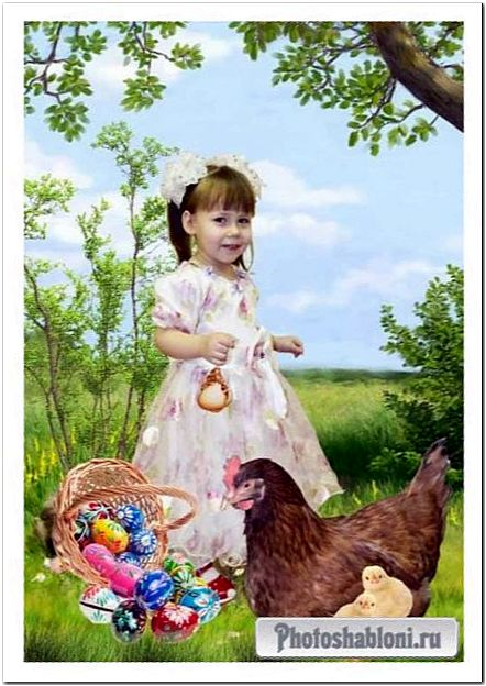 шаблон Россыпь пасхальных яиц