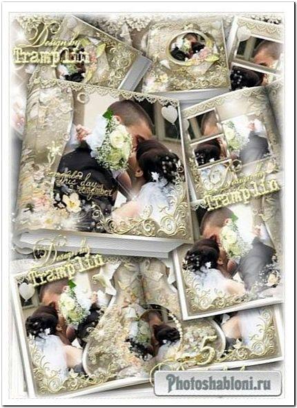 Свадебная фото книга - И поцелуев нежность и россыпи цветов