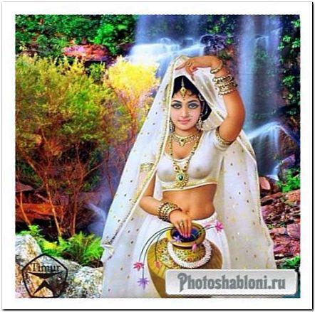Женский шаблон для фотошопа - Рашми