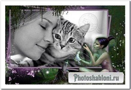 Рамочка для фото - На языке кошки