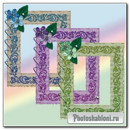 Блестящие рамки для фотошопа