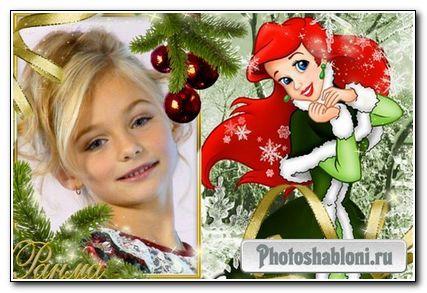 Детская новогодняя с Русалочкой