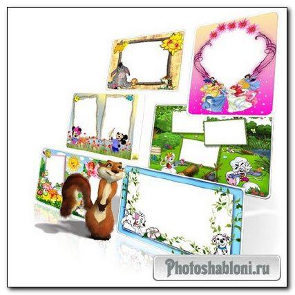 Рамки для Adobe Photoshop - Набор детских рамочек