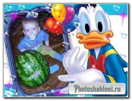 Детская рамка - Дональд