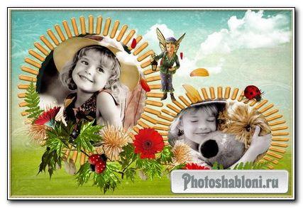 Детская рамка для фото с феей