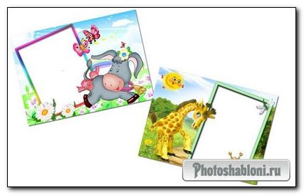 2 детские рамки для фото