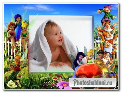 Рамка для фото - Сказочные феи