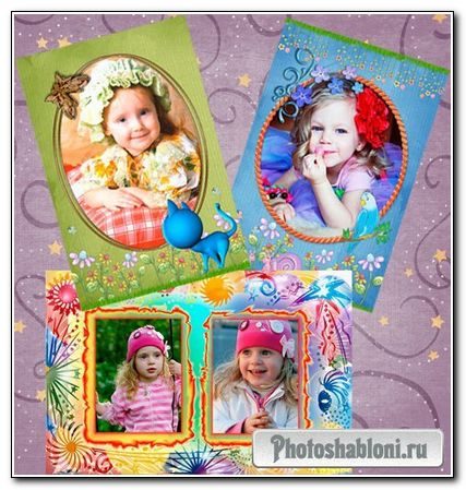 Frame for Photoshop - Kid's world