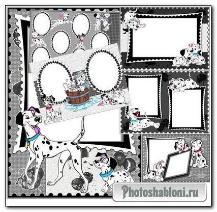 Детские рамки для фотошопа - Фотоальбом с долматнцами