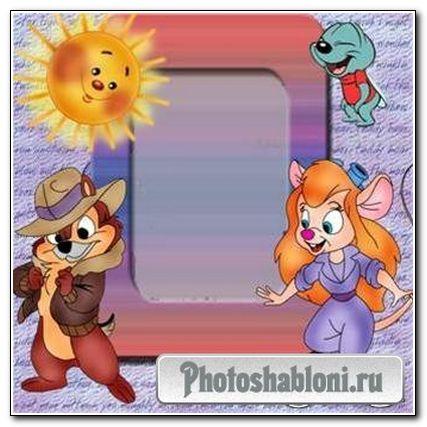 Детская рамка для фото - Чип и Дейл