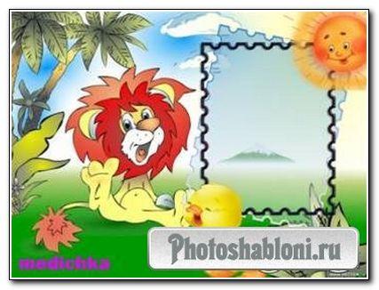 Рамка для фото - Львёнок