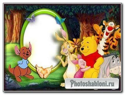 Рамка для фотошопа -Винни и его друзья