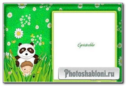 Рамка «В прятки с пандой»