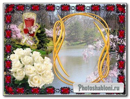 Фоторамка для девушек - весна