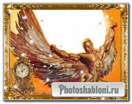 Рамка для PhotoShop «Мужество в бронзе»