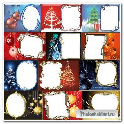 Рамки для фотошопа зимние