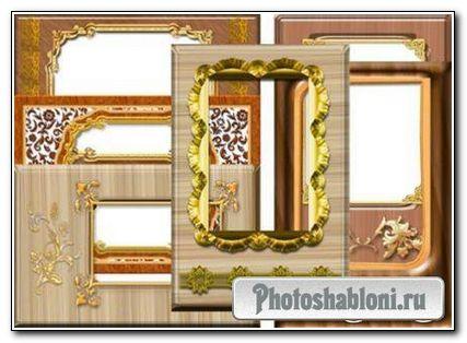 Рамки для фото - Дерево с золотом ч.2