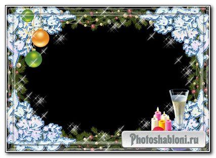 Новогодняя Рамка для фото Зимние узоры