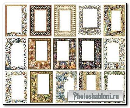 Старинные рамки для фото с орнаментами