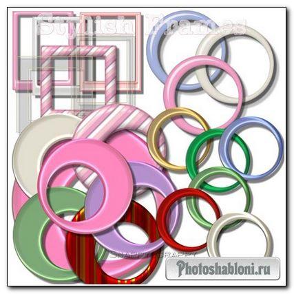 Стильные Разноцветные PNG Вырезы для Рамок