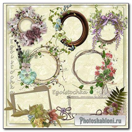 Рамки для фото – Весенние рамки