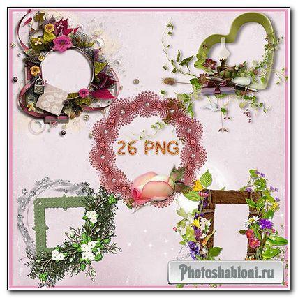 Рамки для фото- Цветочные вырезы