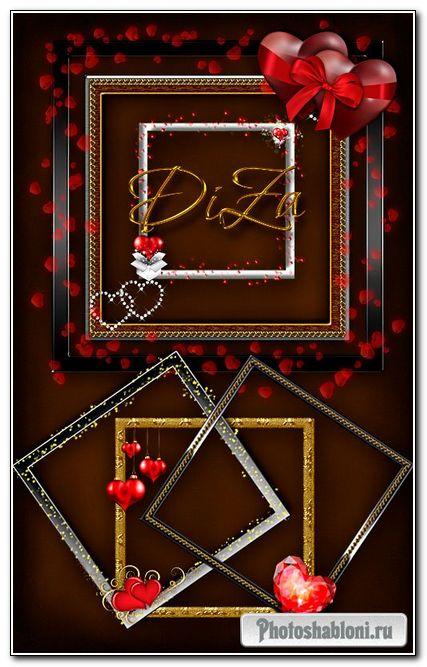 Рамочки-вырезы Love frames