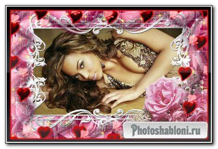 Романтическая рамка для Photoshop – Ключик от моего сердца