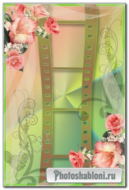 Романтическая рамочка для фото -Загадочные розы