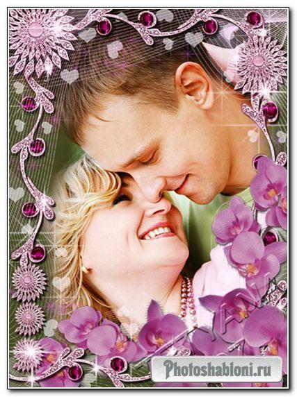 Рамочка для фотошоп - Романтические орхидеи