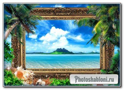 Романтическая фоторамка - Лето под пальмами