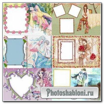 Рамки для фотошоп «Романтика 3»