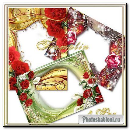 3 Очаровательных рамки с цветами- Праздник цветов