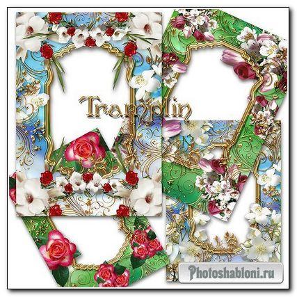 6 Замечательных Цветочных рамок - Есть глаза у цветов