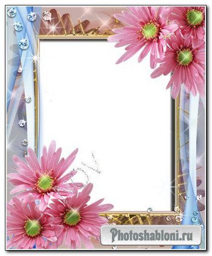 Рамочка для фото -Розовые цветочки