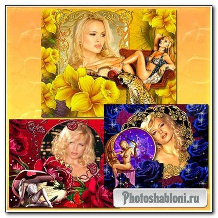 Фоторамки - Фантазии с цветами