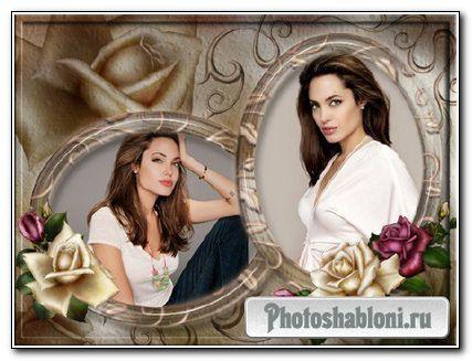 Рамка для фотошопа - Granzhevye roses