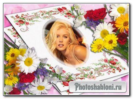 Фоторамка с цветочным узором